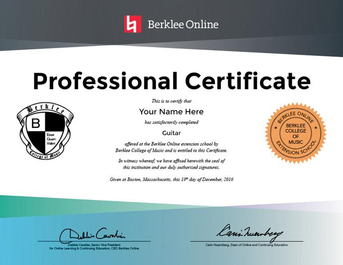 Guitar Professional Certificate - Berklee Online